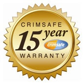 15 years warranty - crimesafe Brisbane