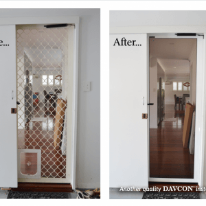 Crimsafe Door Before and After