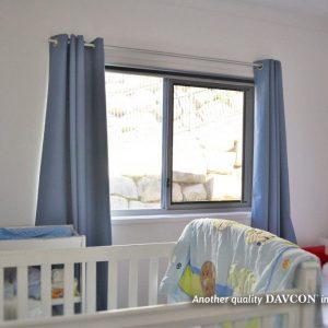 Crimsafe security window installed in children's bedroom