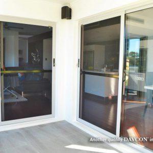 Crimsafe security screen installed on back deck of home