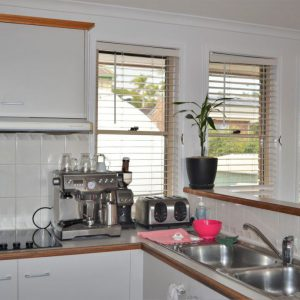 Crimsafe security screens installed in kitchen