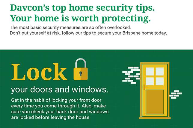 Davcon home security tips infographics