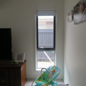 Crimsafe security screen installed on window in children's room