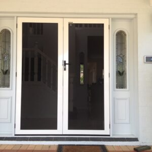 White Crimsafe security ultimate doors