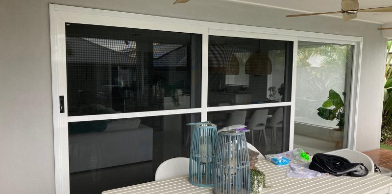 White Crimsafe Doors Pallara - Installed by Davcon